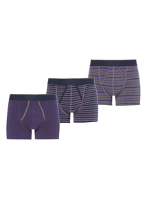 Purple Striped Trunks 3 Pack