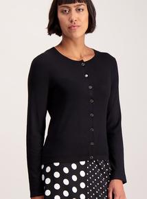 Black Button-Through Cardigan