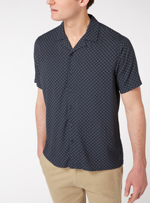 Printed Regular Fit Revere Collar Shirt