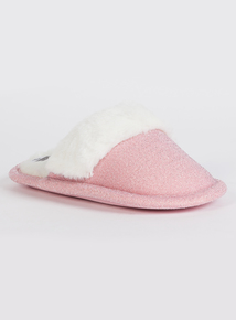 Pink Glitter Mule Slipper