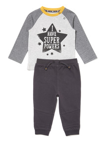 Grey Top and Joggers Set (0-24 months)