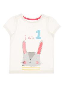 Girls Cream 'I Am 1' Top (9 months-2 years)