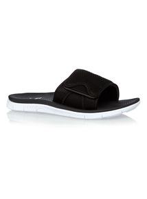 Black Pool Slider Flip Flops