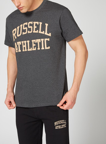 Russell Athletic Charcoal Logo Tee