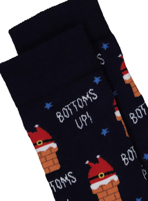 Christmas Santa Chimney Novelty Socks