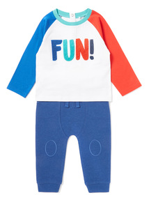 Multicoloured Top And Jogging Bottoms Set (0-24 months)