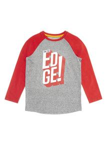 Grey Edge Raglan T-Shirt (3-14 years)