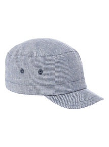 Blue Striped Train Cap (0-24 months)