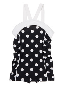 Black Polka Dot 50's Swimsuit (3 - 14 years)