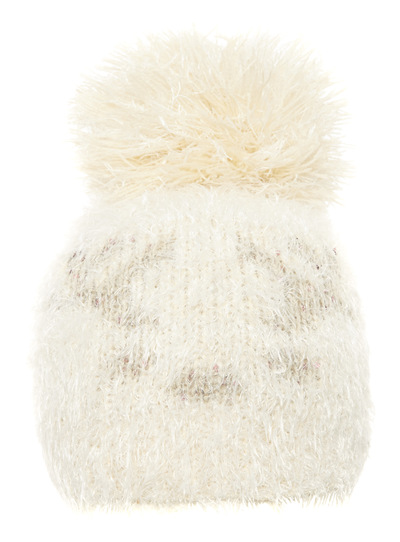 a53281cbd16 Womens Cream Reindeer Hat