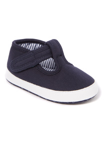Navy T Bar Shoe (0-18 months)