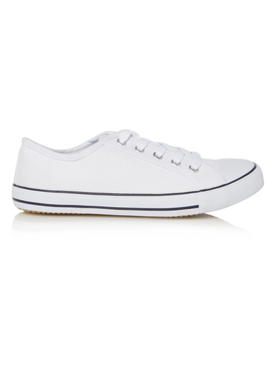 womens white canvas lace up shoes tu clothing