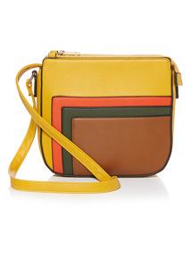 Colour Block Cross-Body Bag