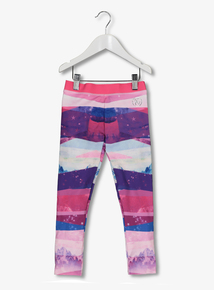 Multicoloured Mountain Striped Dance Leggings (3 to 14 years)