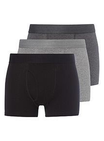 3 Pack Grey and Black Trunks