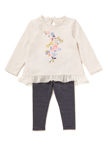 Multicoloured Bird Tee and Leggings Set (0-24 months)