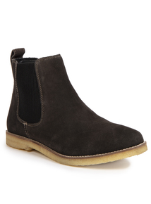 Premium Grey Suede Leather Chelsea Boots