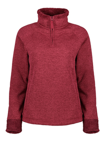 Berry Red Funnel Neck Sweater