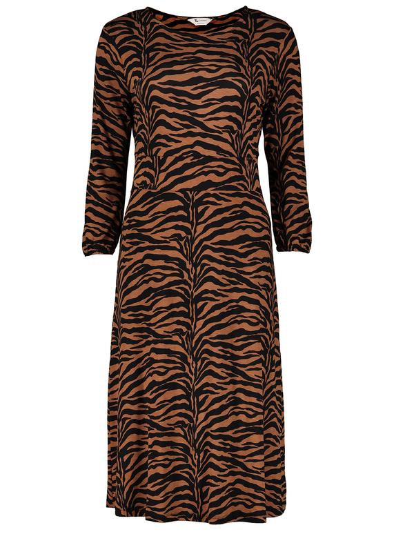 6ae4ee55 Womens PETITE Multicoloured Tiger Print Jersey Midi Dress | Tu clothing