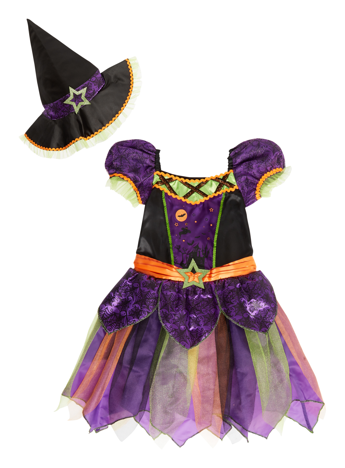 Halloween Kids Enchanted Witch Costume (0-12 years)   Tu clothing