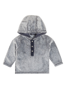 Grey Hooded Fleece (0-24 months)