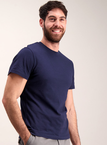 Navy Blue Bubble Texture T-Shirt