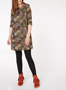 Multicoloured Patchwork Ditsy Tunic