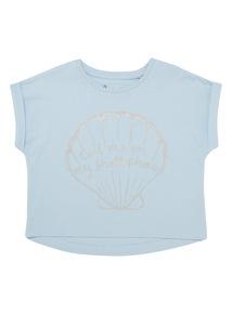 Blue Mermaid Glitter Top (3 - 12 years)