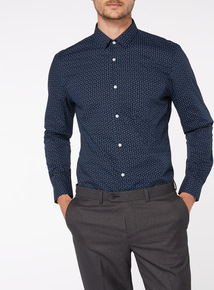 Navy Slim Fit 2 Pack Shirts