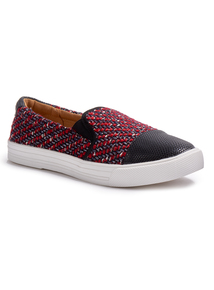 Red Boucle Skater Shoe