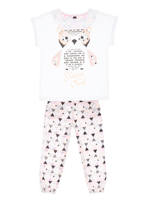 Mix and Match White Sleepy Owl PJ Set (3 - 13 years)