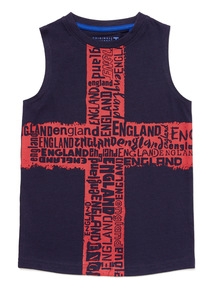 Navy St George's Cross Vest (3-14 years)