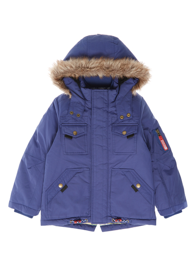 720e2476f Kids Boys Blue Parka Jacket (3-12 years)
