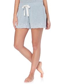 Blue Vintage Embroidered Shorts