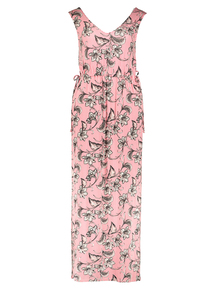 Red Stripe and Floral Maxi Dress