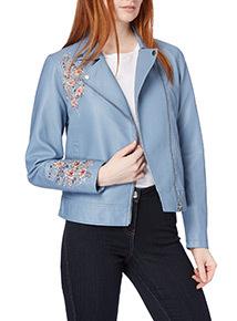 Light Blue Embroidered Jacket