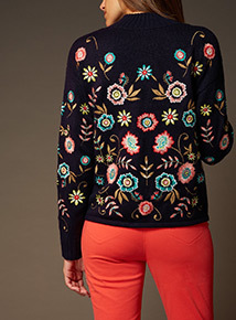 Premium Multicoloured Embroidered Jumper