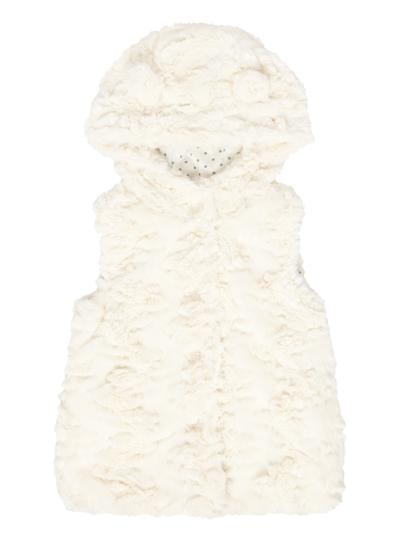 b98b92cb Kids Girls Cream Hooded Fur Gilet (9 months-5 years) | Tu clothing