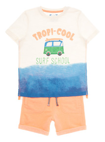 Multicoloured Tropical Tee And Shorts Set (9 months - 6 years)