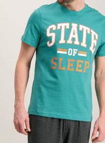 Online Exclusive Green & Grey 'State Of Sleep' Pyjamas