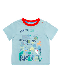 Blue Fish Patterned Tee (0 - 24 months)