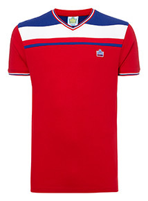 Admiral Red Football Classic Stripe T-Shirt