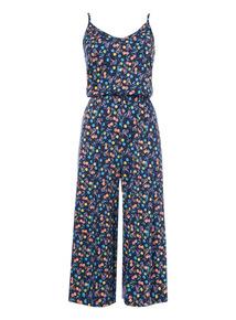 Multicoloured Cherry Pattern Jumpsuit