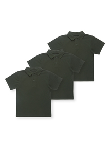 Unisex Green Polo Tops 3 Pack