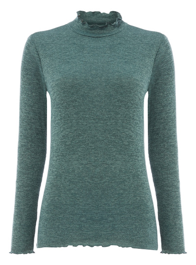 Green Roll Neck Tee