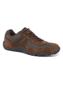 Brown Leather Leisure Shoe