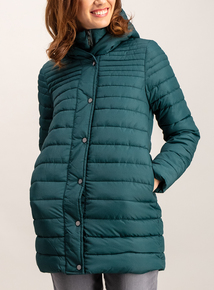 Dark Green Fashion Padded Coat
