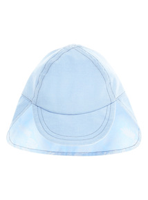Blue Palm Pattern Keppi Hat (0 - 2 years)