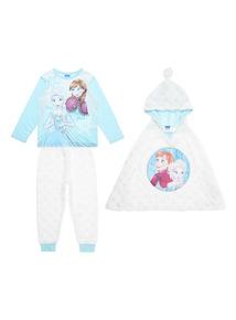 Kids Blue Disney Frozen Set With Cape