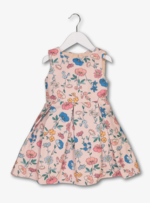 Multicoloured Textured Floral Dress (9 months - 6 years)